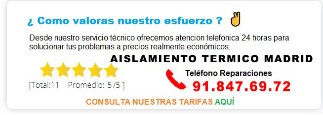 AISLAMIENTO TERMICO MADRID PRECIOS